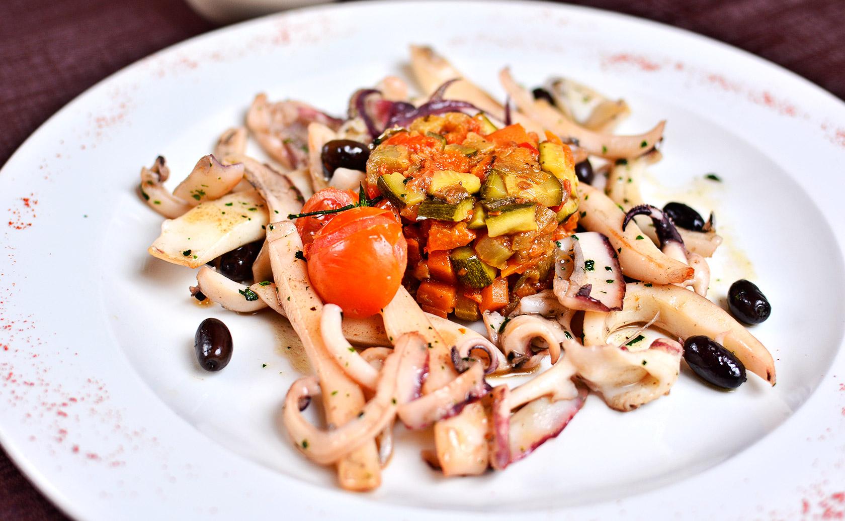 seppia con ratatoille di verdure - ristorante Anima & cuore  - Galatina - Lecce